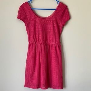 Lily Rose Pink Lace Dress Juniors Size Small